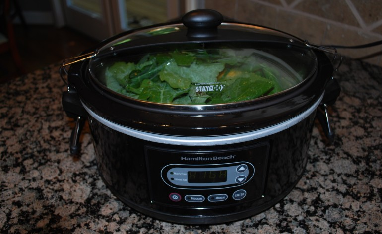 Drunk Crock Pot Collards