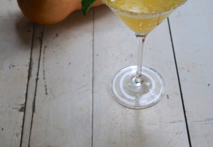 Impress your guests with this butternut squash fall cocktail!