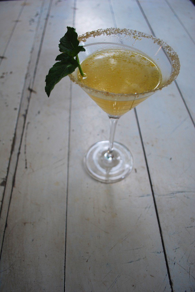Butternut Squash Cocktail with Fresh Mint