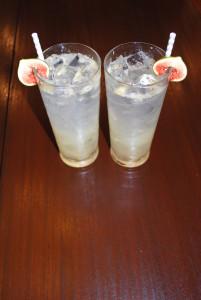Fig Tom Collins Cocktails