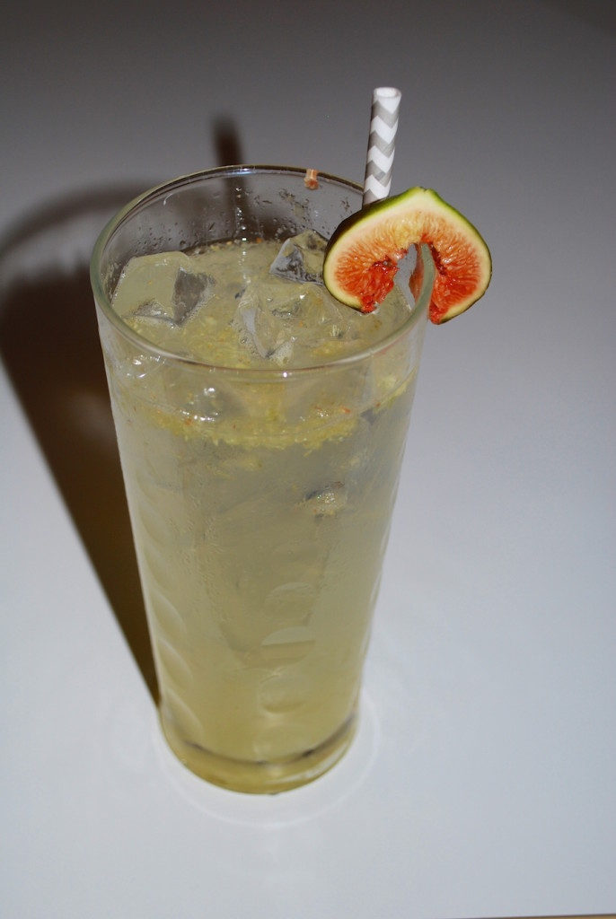 Vodka Tom Collins with Fresh Figs