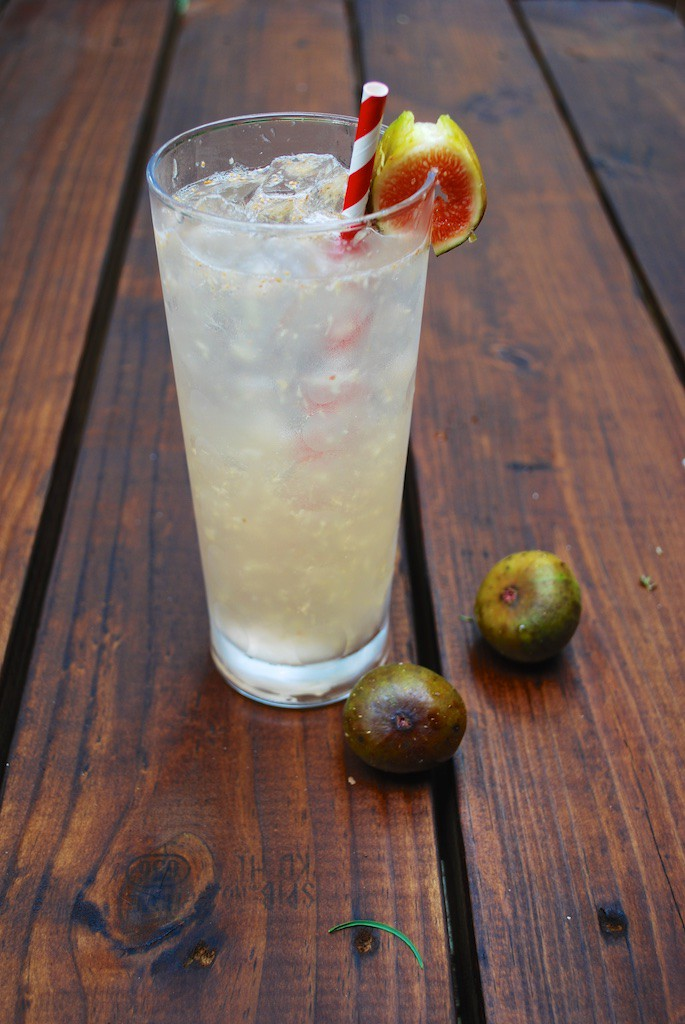 Club Soda, Figs, & Whipped Cream Vodka Recipe - The Sparkling Fig Puff Cocktail