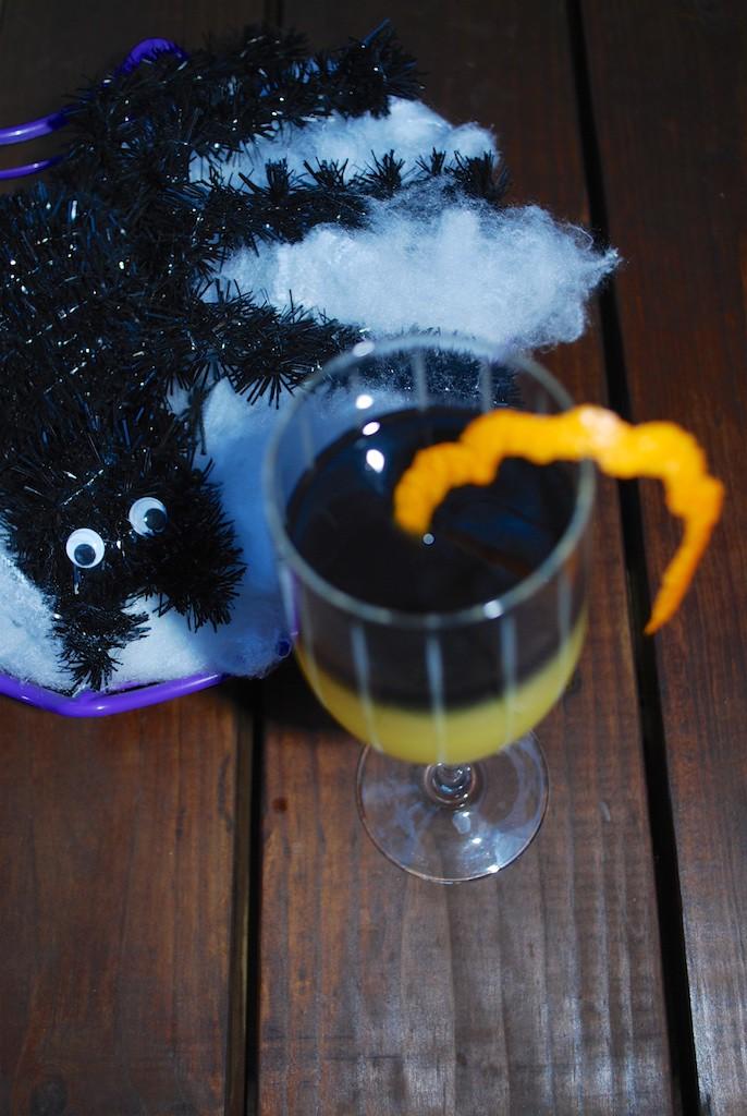 Spooky Halloween Mimosa Cocktail