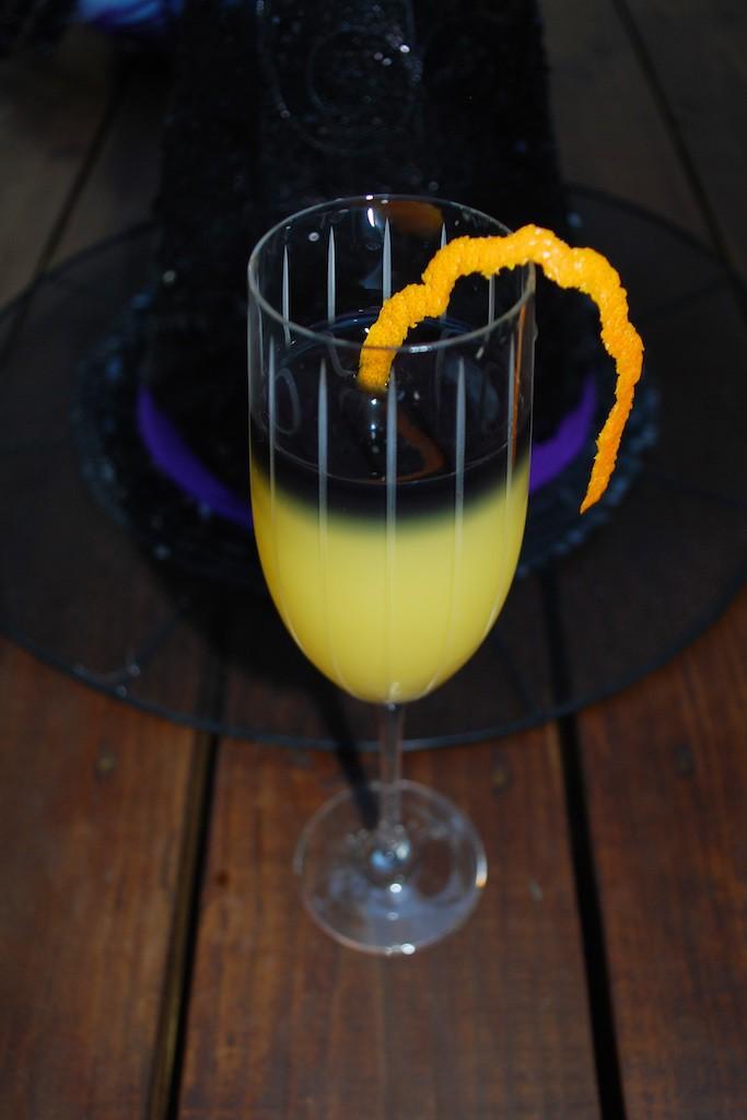 Halloween Vodka Mimosa Cocktail