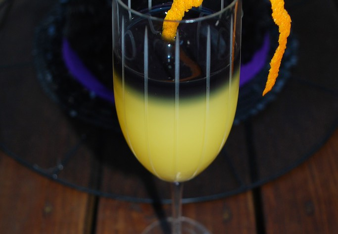Halloween Vodka Mimosa Cocktail