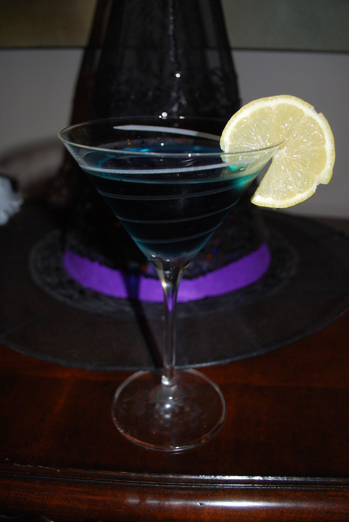 Witches Brew Halloween Martini Cocktail