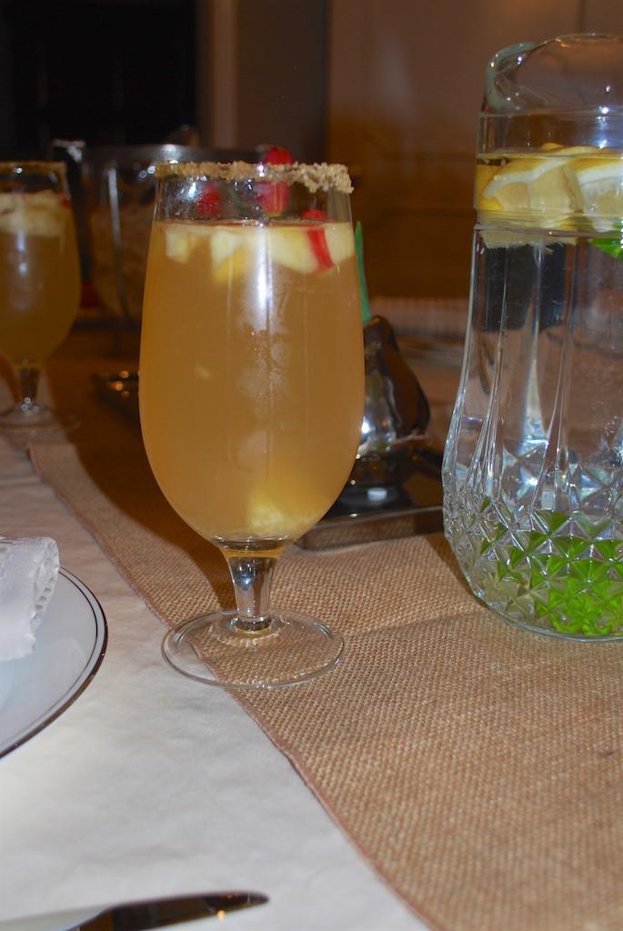 Apple, Orange, Chardonnay, & Vodka Sangria!