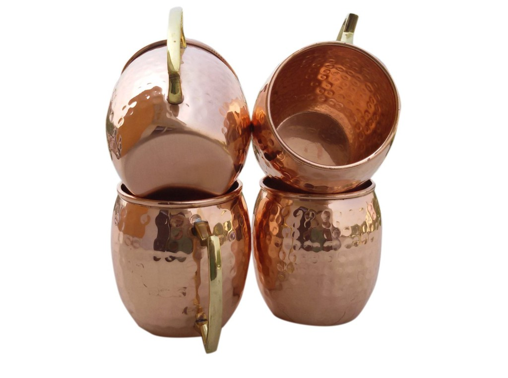 Hammered Moscow Mule Mug Gift Set