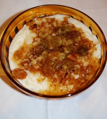 Vodka Soaked Raisins Rice Pudding
