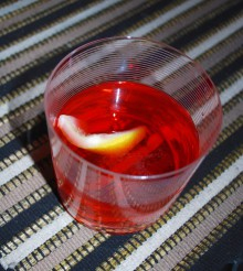 Vodka Negroni Cocktail
