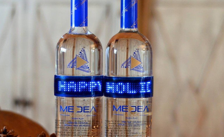 Great Vodka Gift- Programmable LED Bottle
