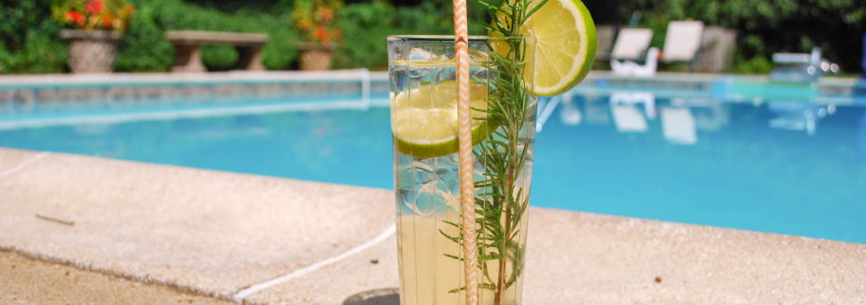 Lavender Rosemary Vodka Tonic Cocktail