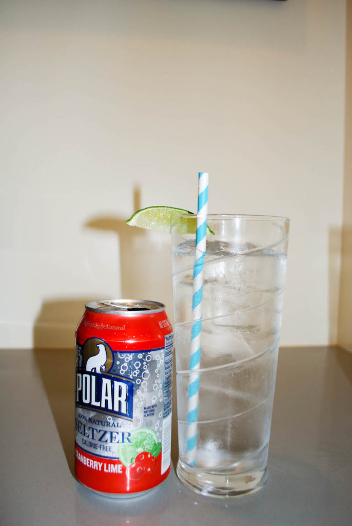 Polar Ice Seltzer and Vodka Summer Cocktail
