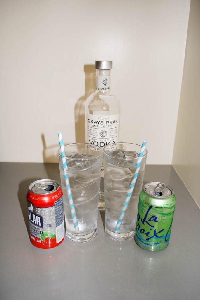Sparkling Water & Vodka Summer Cocktail